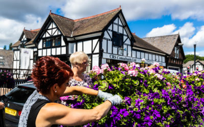 Judges visit Northwich for 'In Bloom' competition