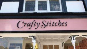 Crafty Stitches signage