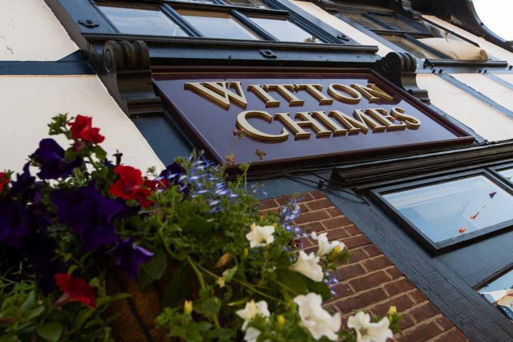 Witton Chimes Basket and signage